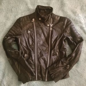 DOMA Leather Moto Jacket , Excellent Condition